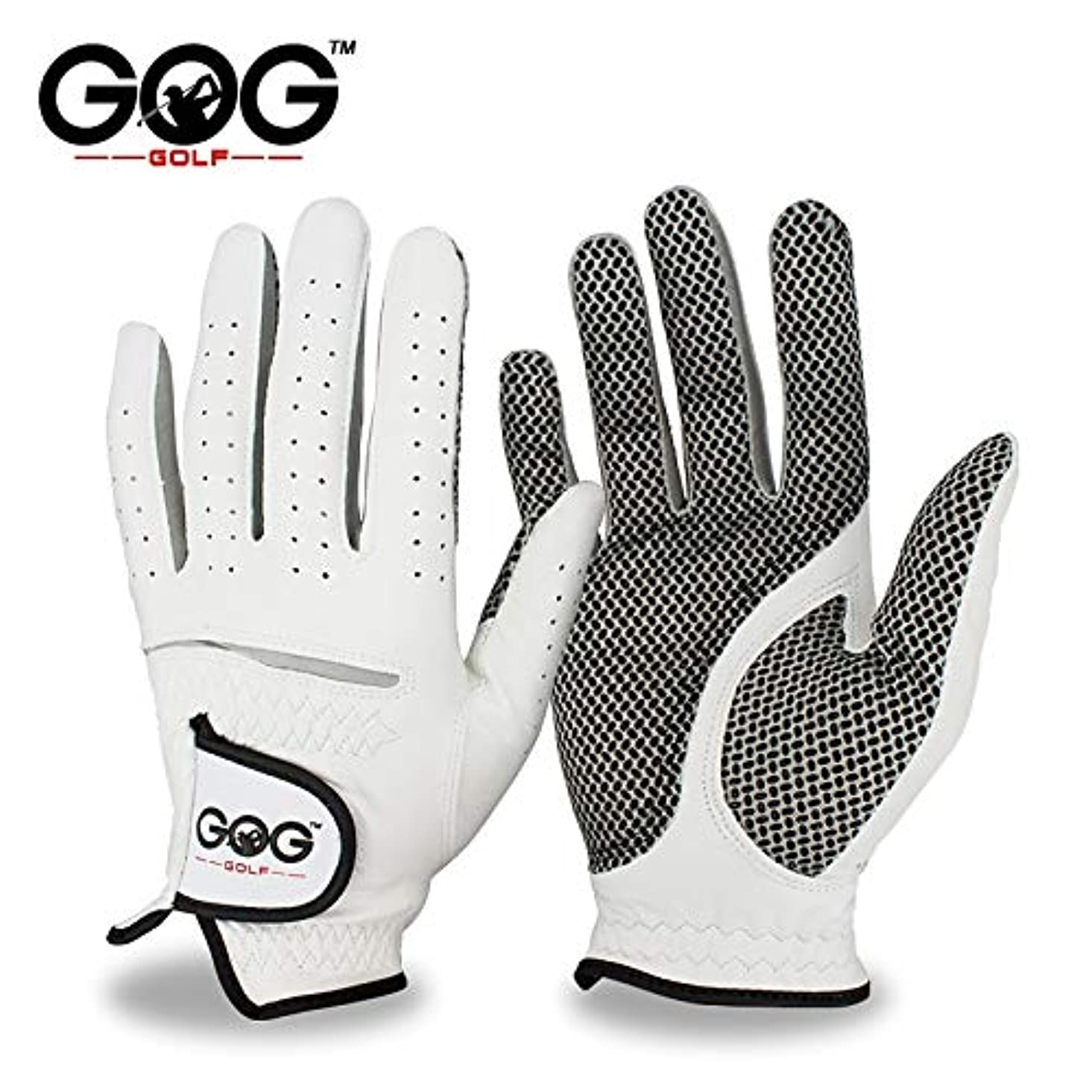 Golf Gloves Genuine Leather Golf Gloves Men's Left Right Hand Soft Breathable Pure Sheepskin Golf Gloves Golf Accessories | by NAHASU lackz653766