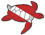 VinMea Tauchaufkleber, Seeschildkröten-Form, Tauchaufkleber, Größe: 7,6 x 10,2 cm