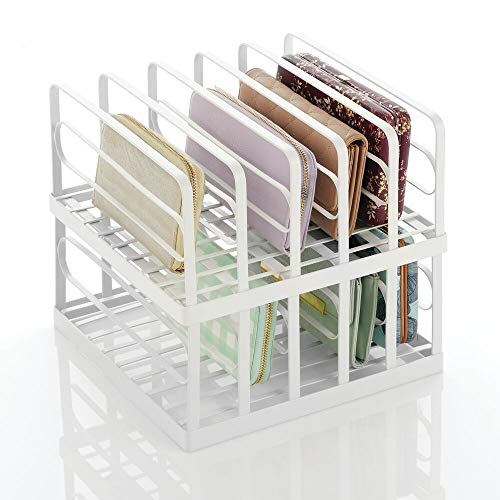 mDesign Metal Divided Stackable Purse Organizer