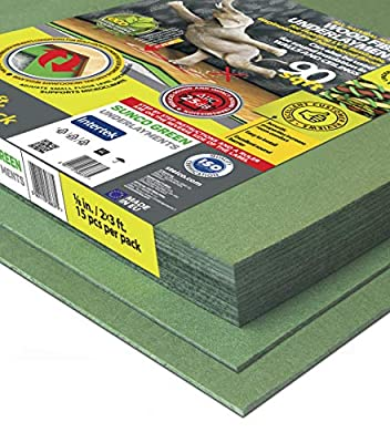 STEICO 4 in 1 soft Underlayment for laminate, engineered wood floor, vinyl, LVT/LVP 3mm 1/8 Inch 90 SqFt with soundproofing natural green wood fibre and excellent airborne and impact sound insulation
