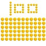 ZITFRI 100Pcs Balles Recharge Compatible pour Nerf Rival Munition Bille Balle Bullet pour Artemis Apollo Zeus Blasters Enfants Gamins Jouets