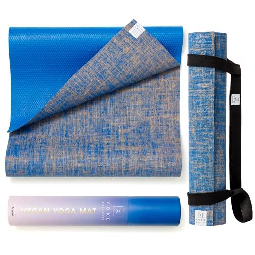 Eco Friendly Yoga Mat. Natural Rubber, Organic, Vegan Jute Yoga Mats -Non Slip Yoga Mat,...
