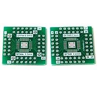 5pcs NEW SMD QFN48 QFN44 to DIP アダプタPCBボードのコンバーター両面 DIY