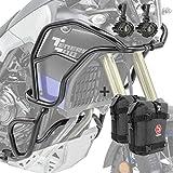 Set Defensas + Faro Adicional XL para Yamaha Tenere 700 19-21 Negro + K3