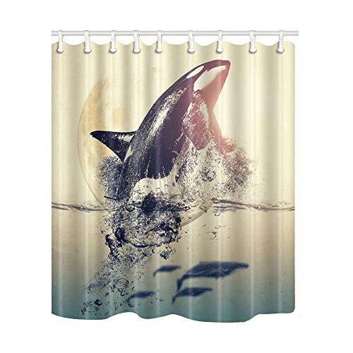 565pir Wal Duschvorhang Orca Duschvorhang, wasserdicht