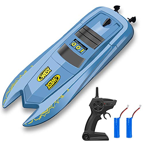 Our #6 Pick is the INLAIER RC Boat Remote Control Boats for Pools and Lakes