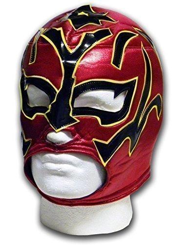Estrella Fugaz rojo / Negro Adulto luchador mexicano lucha libre Mscara de lucha