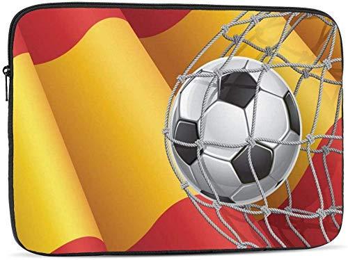 Funda para ordenador portátil de 10 a 17 pulgadas, compatible con la bandera de Polonia y la bandera de España de 15 pulgadas