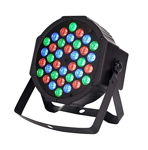 Groeien DJ Lights 36 LEDs DMX 512 RGB Color Mixing Wash Can Par Light for Disco Diwali Lighting- (Black Colour)