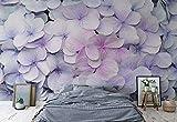 Blumen Hortensien Lila Rosa - Wallsticker Warehouse - Fototapete - Tapete - Fotomural - Mural Wandbild - (3121WM) - XXL - 312cm x 219cm - VLIES (EasyInstall) - 3 Pieces