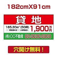 プレート看板 アルミ複合板 表示板不動産向け募集看板【貸地】 182cm*91cm estate-02