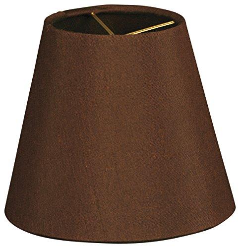 Royal Designs CS-941-5BR Hardback Empirechandelier Lamp Shade, Dark Brown