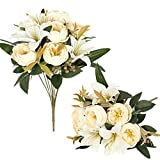 Luyue 2 Pack Artificial Flowers Arrangements...