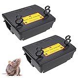 Best Rat Poison Traps - 2 Pack Rat Bait Stations Rodent Trap, Reusable Review