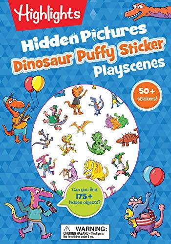Dinosaur Hidden Pictures Puffy Sticker Playscenes (Highlights Puffy Sticker Playscenes)