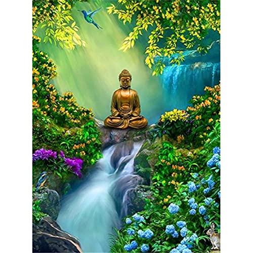 TTTTYYY Puzzles para Adultos (Buddha Statue) Puzzle 5000 Pezzi Gradiente Difícil y Desafiante Juguete Educativo para Aliviar el Estrés para Adultos Niños