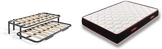 Hogar24 Cama Nido Metálica Reforzada, 6 Patas, 90x190 + Memory Fresh 3D - Colchón Viscoelástico Reversible, 90 x 190 cm