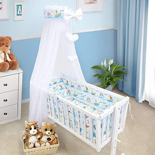 Juego de Ropa de Cama para Bebé Cuna Cuna 6 Piezas Almohada Funda de Edredón Parachoques Para Cuna 90x40CM - Sails