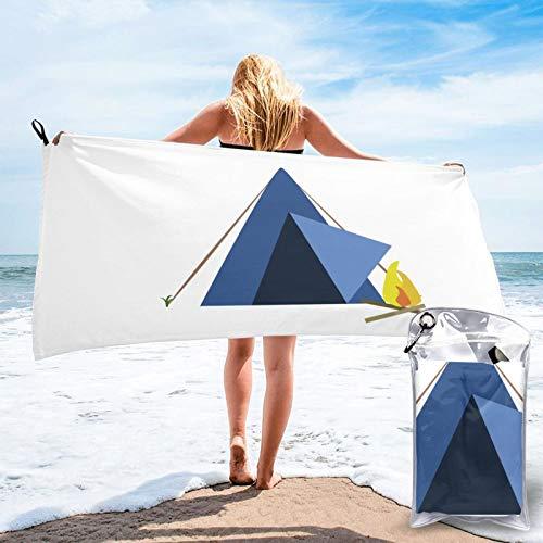 Sunmuchen Toalla de baño triángulo para tienda de fuego, toalla de gimnasio, toalla de playa, uso multiusos para deportes, viajes, súper absorbente, microfibra suave de secado rápido, ligero