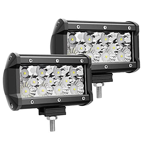 LED Pods, 5 Inch 66W 6600LM Led Cubes Off Road Driving Lights Triple Row Spot Flood Combo Light Bar Super Bright Led Work Lights Waterproof Fog Light for ATV Utv Truck Bumper Light, 2 Pack