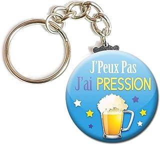 Porte Clés Chaînette 3,8 centimètres j' peux pas j' ai Pression Idée Cadeau Accessoire Humour Homme Femme Excuse