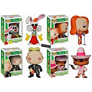 Juego Funko Pop Chi ha incrustado Roger Rabbit Figure Morton Jessica Smarty Weasel 5