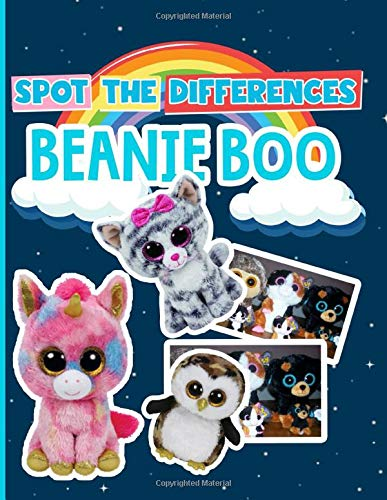 Beanie Boo Spot The Difference: Perfect Gift Spot The Differences Activity Books For Kids And Adults Awesome Collections