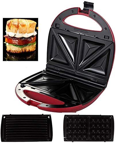 Wafelijzer Sandwich Maker 4 Slice, tosti-ijzer, Keuken Appliance, 750W, Ontbijt Machine