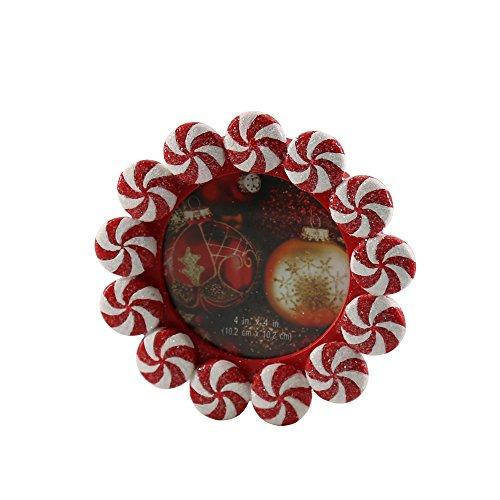 Missley Harz Minzen Rahmen Kreis Rot-Weiß Pfefferminze Süßigkeiten Tabelle Dekoration Bunt Erinnerung Lager Box (Rot-Weiß)