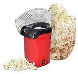 Máquina aventora de palomitas de palomitas de aire caliente 1200W para el cine en casa, BPA- Fabricante de palomitas de maíz eléctrica gratis con tapa superior, 3 min rápido, sin aceite, sin aceite pa