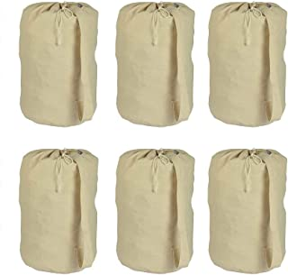 "Accent Home 100% Cotton Laundry Bag 28x15"" Beige AH_LNDRYBG_PLN_ST06"
