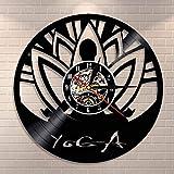 Zen Yoga Studio Reloj de Pared Meditación Buda Minimalismo Alineación Yoga Espíritu Disco de...