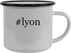 #lyon - Stainless Steel Hashtag 12oz Camping Mug, Black