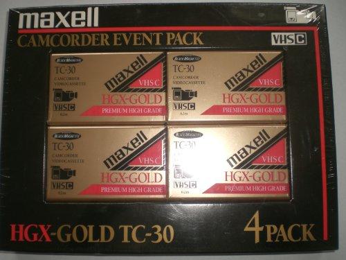 MAXELL HGX-GOLD VHS-C TC-30 4 PACK