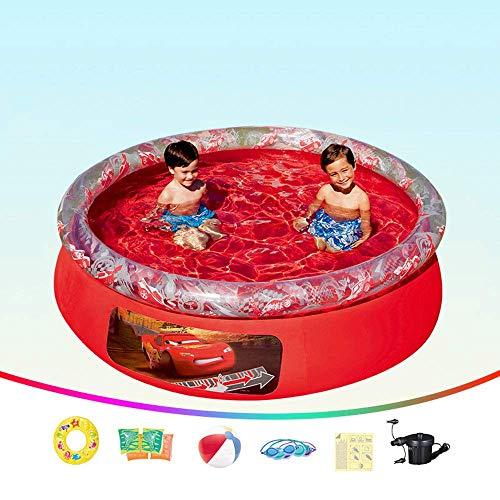 HLJ Piscina Inflable 198X51cm, Inflable for niños Piscina, jardín al Aire Libre Inicio Niños Engrosamiento de Protección Ambiental de PVC Piscina for niños