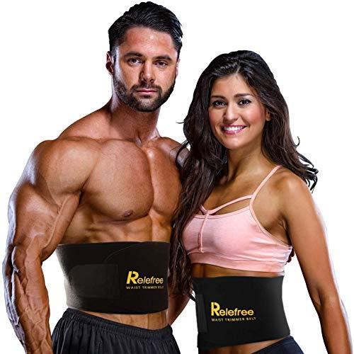 Relefree Faja Reductora Adelgazante, Adjustable Adelgazar Faja para la Cintura/Espalda/Lumbar Faja de Neopreno con Pegar (Fitness Hombre/Mujer Disponible) 1 ⭐