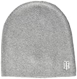 Tommy Hilfiger TH Knit Beanie Gorro/Sombrero, Mid Grey Melange, OS para Mujer