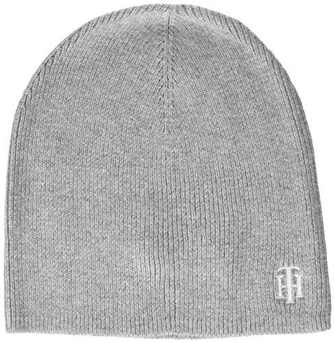 Tommy Hilfiger Damen Th Knit Beanie Hut, Mid Grey Melange, OS