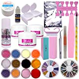 Kit completo de manicura, con uñas de en polvo, acrílicas, kit de plumones, arte en tus uñas, DIY, ideas para diseño de uñas de pato