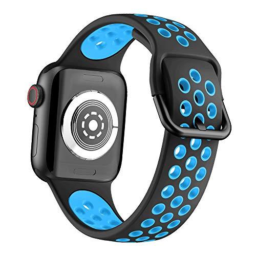 YSSNH Compatible para Apple Watch 38mm 42mm Correa Pulsera de Silicona Suave Reemplazo Correa de Reloj Transpirable de Dos Colores,Compatible con Apple Watch Series 6/5/4/3/2/1
