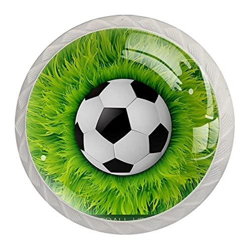 Fútbol, Moderno Minimalista De Impresión De Armario De La Manija Del Cajón De La Manija Del Armario De La