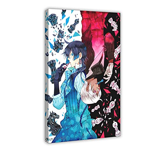 Anime The Case Study of Vanitas 4 Vintage Art Leinwand Poster Wandkunst Dekor Druck Bild Gemälde für Wohnzimmer Schlafzimmer Dekoration 50 × 75 cm Rahmen: