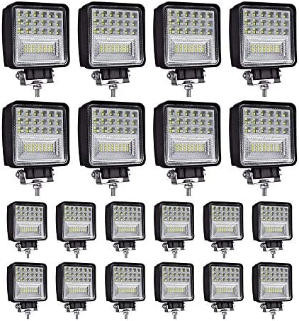 LED Light Pods 4 inch 126W Square LED Work Light Spot Flood Light Off Road Light Led Fog Light product image