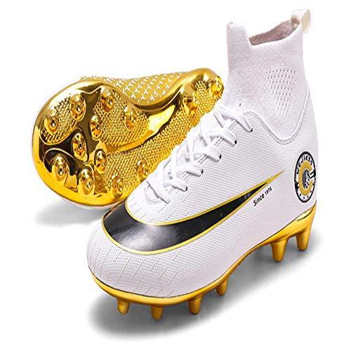 miaomimi Zapatos de Fútbol de Hombre Alta Parte Superior de Chicos Largos de Tacos Entrenador de Fútbol Junior Cleats Profesional Zapatos de Deporte de Niñas Juego de Fútbol