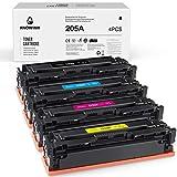 KNOWINK 205A Cartuchos de Tinta Negra compatibles con HP 205A CF530A CF531A CF532A CF533A para HP Color Laserjet Pro MFP M180n M181fw M180nw M154nw M154a Toner(Paquete de 4)