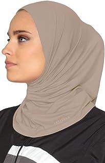Artizara One Piece Stretch Sports Hijab, Athletic Hijab, Workout Hijab for Modest Islamic Hijabi Gym Workout