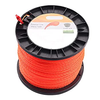 Wellsking 0.095  Round Twist String Trimmer Line 3 lbs 985 Foot Spools Weedeater Line for FS45 SRM225 SRM210 SRM230 Trimmer Head Weed Eater with Bonus Line Cutter