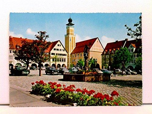 AK Freudenstadt / Schwarzwald, Marktplatz mit Rathaus und Neptun-Brunnen; Autos, Oldtimer; ungelaufen