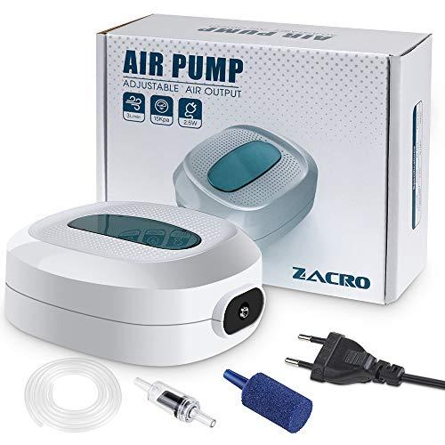 Zacro 2.5w Bomba Aire de Oxígeno para Acuarios, Caudal 3L / min,Tranquilo