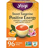 Yogi Tea - Sweet Tangerine Positive Energy - Supports Elevated Mood and Energy Levels - 6 Pack, 96...